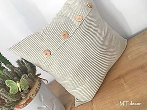 Úžitkový textil - DEKORAČNÉ VANKÚŠE / romantické obliečky s ozdobným gombíkmi - 10517365_