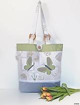 Nákupné tašky - Nákupná taška - motýle /podšitá/ - 10517129_
