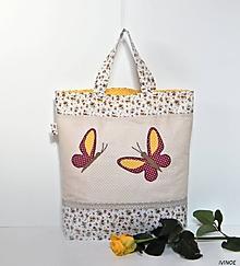 Nákupné tašky - Nákupná taška - motýle - 10517118_