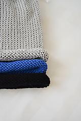 Čiapky - Hučka / kulich... 100% bavlna (čierna) - 10520080_