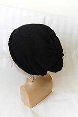 Čiapky - Hučka / kulich... 100% bavlna (čierna) - 10520084_