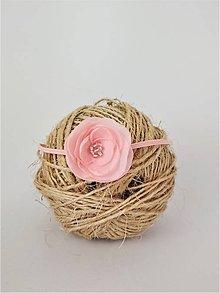 Detské doplnky - Čelenka s malým kvietkom ružová - 10519122_