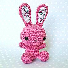 Hračky - Zajko Tulko (pink candy) - 10519477_