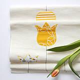 Úžitkový textil - Prestieranie / štóla - smotanové s tulipánmi - 10519300_