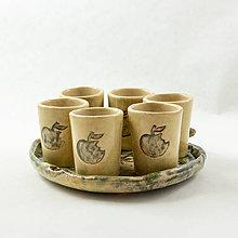 Nádoby - Poháriky 6ks na jablkovej tácke - super darček - 10519105_