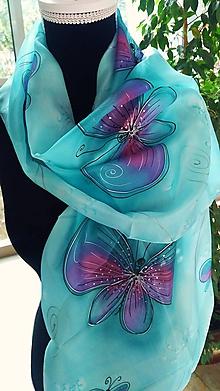 Šatky - motýlikový - 10520851_