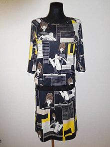 Šaty - Pruhovaná holka - 10519356_