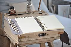 Papiernictvo - kombinovaný kožený zápisník  LILAC - 10518823_
