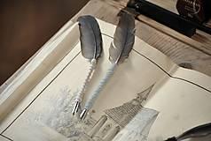 Papiernictvo - Kaligrafické brko na písanie atramentom (OLD ROSE) - 10519332_