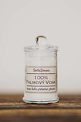 Svietidlá a sviečky - Sviečka zo 100% palmového vosku v sklenenej dóze - 10518836_