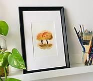 Obrazy - originál akvarel Stromy na jeseň - 10520976_