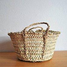 Košíky - BASÍTA pletený košík, Rustikálny pletený košíček - 10519364_