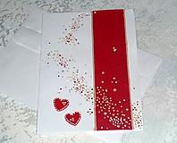 Pohľadnica...s červenými srdiečkami