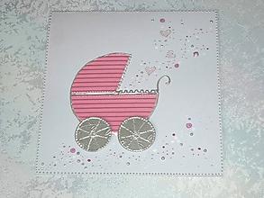 Papiernictvo - Pohľadnica...narodilo sa dievčatko :-) - 10519914_