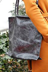Veľké tašky - Velká kožená kabelka-černá - 10520889_