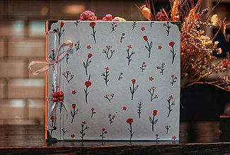 Papiernictvo - Fotoalbum klasický, polyetylénový obal s potlačou ruží - 10520796_