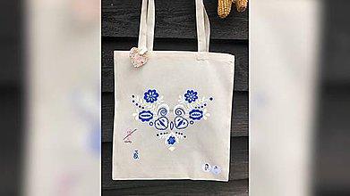 Nákupné tašky - ♥ Plátená, ručne maľovaná taška ♥ - 10519025_