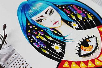 Kresby - Aj kvety v noci svietia - 10521021_