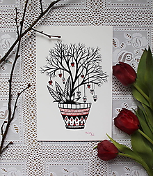 Kresby - Láska kvitne na stromoch - 10521334_