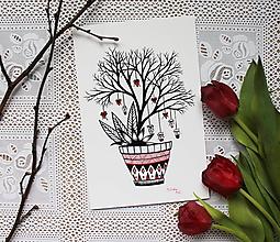 Kresby - Láska kvitne na stromoch - 10521335_