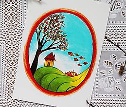 Kresby - Posledný deň babieho leta - 10521394_