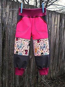 Detské oblečenie - Softshellové kalhoty - 10520496_