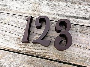 Tabuľky - Popisné číslo: Samostatná číslica Oval (15 cm) - 10519345_