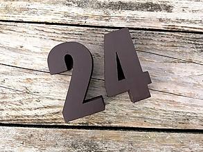 Tabuľky - Popisné číslo: Samostatná číslica Long - 10519353_