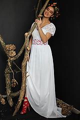 Šaty - Svadobné šaty s opaskom a šifónovou sukňou - 10520208_