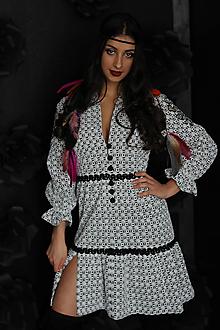 Šaty - Boho šaty z bavlny s výšivkou - 10520391_