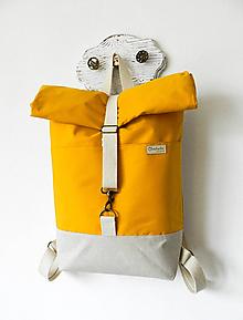 Batohy - Rolltop batoh okrový - 10519629_