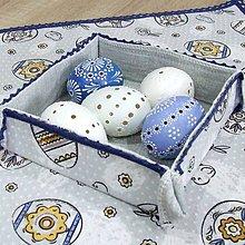 Úžitkový textil - PAVLA - veľkonočný štvorcový košíček - 10521358_