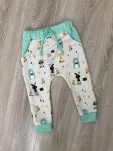 Detské oblečenie - Zvieratkové tepláčiky - 10521059_