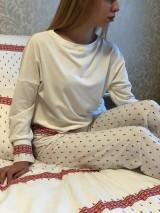 Pyžamy a župany - Dámske pyžamo z organickej bavlny FOLKLORIKA - 10520255_