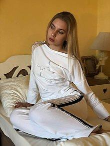 Pyžamy a župany - Dámske pyžamo z organickej bavlny LOVE - 10520230_