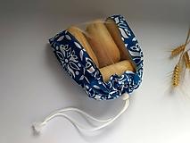 Vrecúško na drobné pečivo - MINI (Mini 22x24 cm - modré)