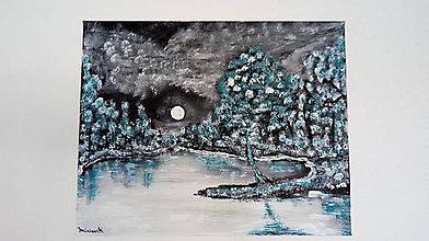 Obrazy - Spln nad jazerom - 10521511_