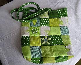 Nákupné tašky - nákupná taška-zelená - 10521520_