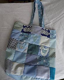 Nákupné tašky - Nákupná taška-modrá - 10521561_