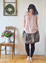 Topy - Lněný top růžový - 10520793_