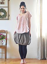 Topy - Lněný top růžový - 10520794_
