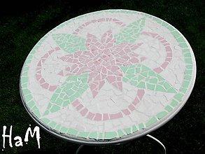 Nábytok - Mozaikový stolík Romantic - 10520898_
