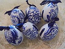 Dekorácie - Veľkonočné krasličky (Modrá) - 10519653_