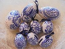 Dekorácie - Veľkonočné krasličky (Modrá) - 10519655_