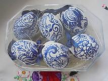 Dekorácie - Veľkonočné krasličky (Modrá) - 10519676_