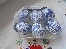 Dekorácie - Veľkonočné krasličky (Modrá) - 10519677_