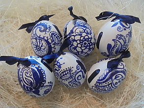 Dekorácie - Veľkonočné krasličky (Modrá) - 10519671_