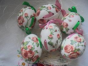Dekorácie - Veľkonočné krasličky ružičky - 10519730_