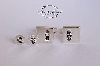 Šperky - Manžetové gombíky s folklórnym vzorom - Detva - 10520007_