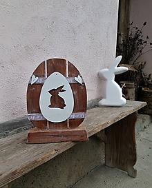 Dekorácie - Veľkonočné vajíčko na podstavčeku - 10521843_